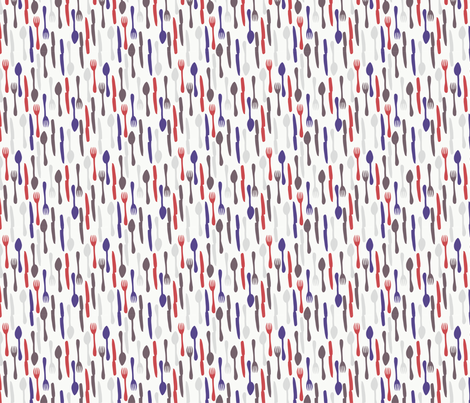 Cutlery - colorway 3 fabric by aliceelettrica on Spoonflower - custom fabric