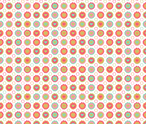 Hearts and Flowers fabric by valendji on Spoonflower - custom fabric