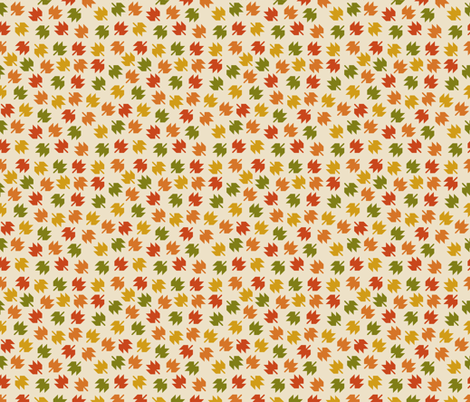 Falling Leaves fabric by valendji on Spoonflower - custom fabric