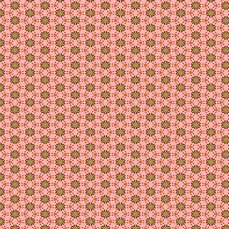 Peach and Avocado in Lilliput: Little Flowers fabric by tallulahdahling on Spoonflower - custom fabric
