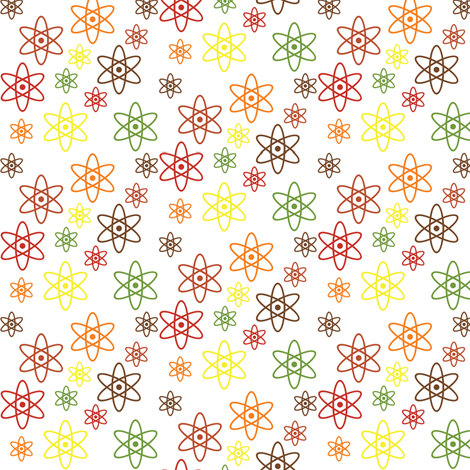 Atomic Orbits (Fall Ditsy) fabric by robyriker on Spoonflower - custom fabric