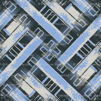Cityscape weave blue 1