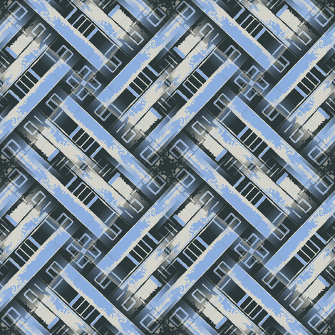 Cityscape weave blue 1 fabric by susiprint on Spoonflower - custom fabric