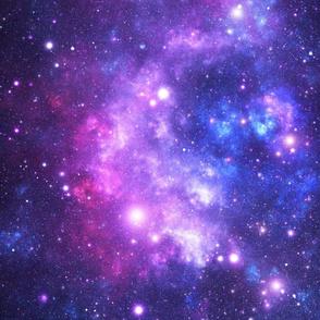 Purple Space Stars (large print)