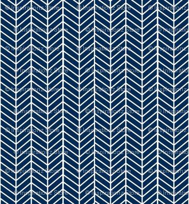 Dark Navy Blue Arrow Feather pattern