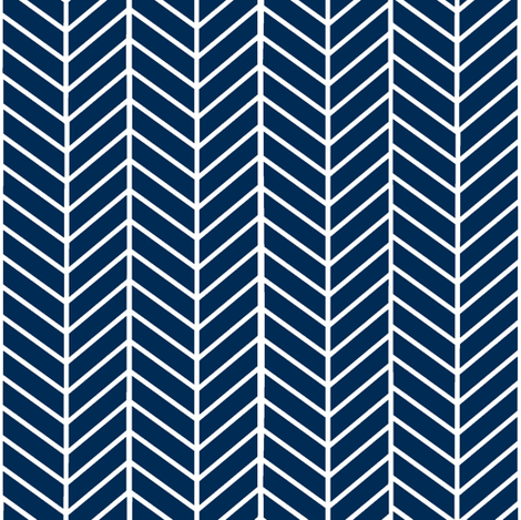 Dark Navy Blue Arrow Feather pattern fabric by inspirationz on Spoonflower - custom fabric