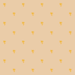small flowers beige yellow