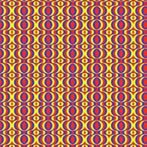 retro waves yellow red blue