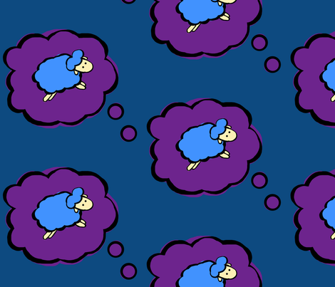 Countless Blue Sheep fabric by jodelien on Spoonflower - custom fabric
