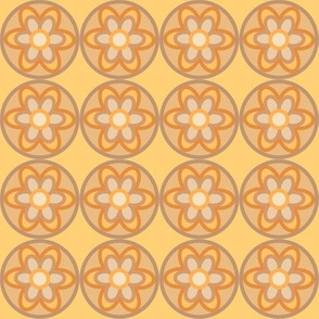 retro flowers beige