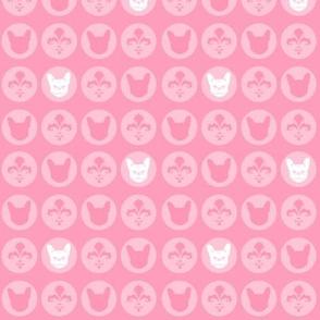 French Bulldog Dot - Pink