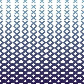 X Halftones Blue