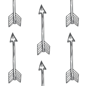 Shooting Arrows Grey on White