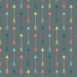 Colourful Arrows on Grey Vertical