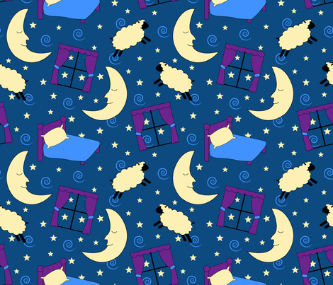 Nighty Night, Sleep Tight fabric by illustrative_images on Spoonflower - custom fabric