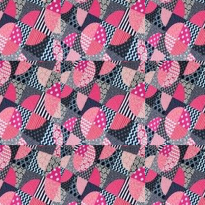 Pink and Navy quilter
