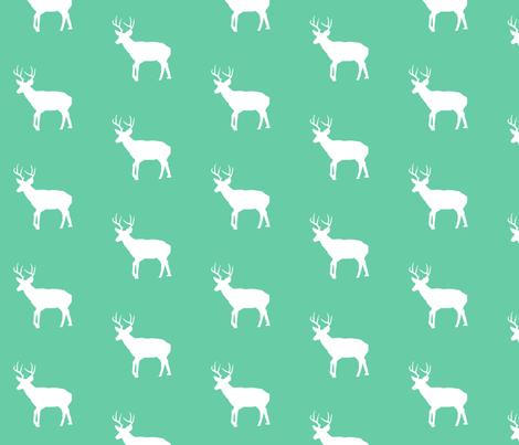 mintgreendeer fabric by ajoyfulriot on Spoonflower - custom fabric