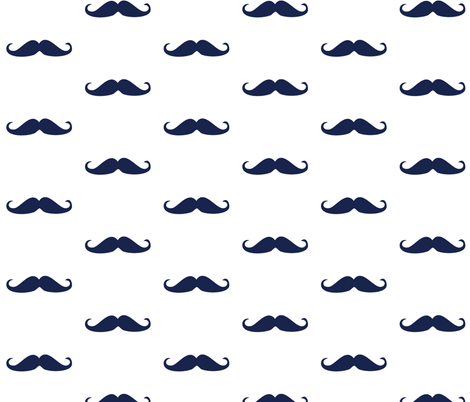 mustache fabric by ajoyfulriot on Spoonflower - custom fabric