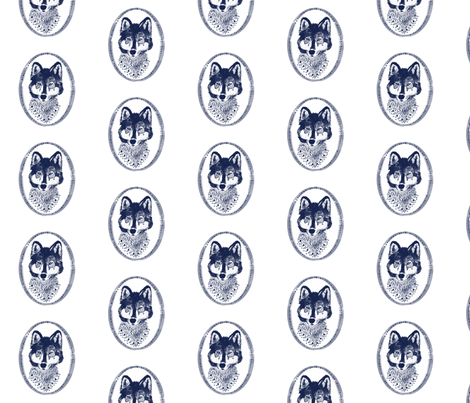 blue_fox fabric by ajoyfulriot on Spoonflower - custom fabric