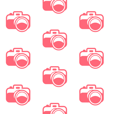 pink_camera fabric by ajoyfulriot on Spoonflower - custom fabric