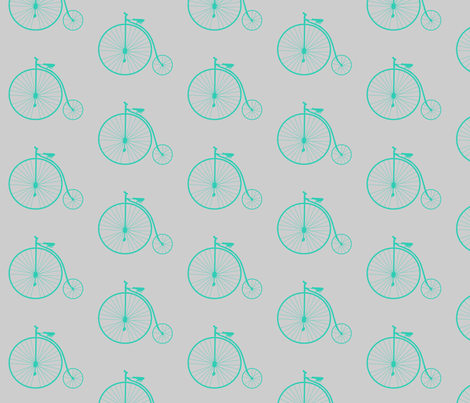 gray_and_green_bike fabric by ajoyfulriot on Spoonflower - custom fabric