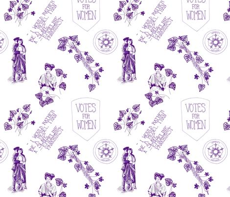 A Suffragette Toile fabric by katebillingsley on Spoonflower - custom fabric