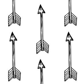 Shooting Arrows Black on White - Monochrome