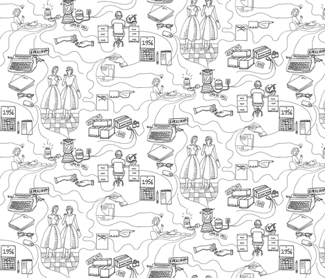 Bette fabric by graceful on Spoonflower - custom fabric