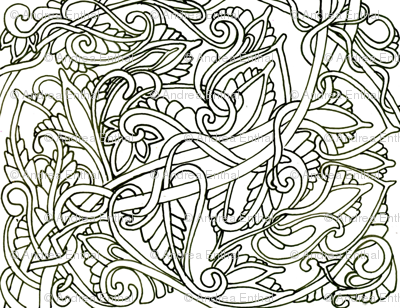 Simple Freehand Tangle