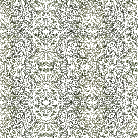 Simple Freehand Tangle fabric by edsel2084 on Spoonflower - custom fabric