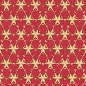 Gold Stars on Red © Gingezel™