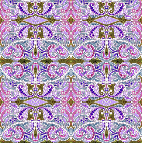 M'Lady Likes Lavender fabric by edsel2084 on Spoonflower - custom fabric