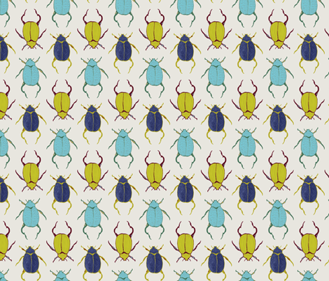 Beetles fabric by lauriebaars on Spoonflower - custom fabric