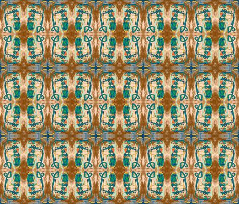 Geode Tiger's Eye fabric by albanianflower on Spoonflower - custom fabric