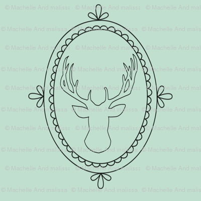 Frame deer - mint