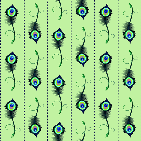 peacock_feather2 fabric by spontaneouscombustion on Spoonflower - custom fabric