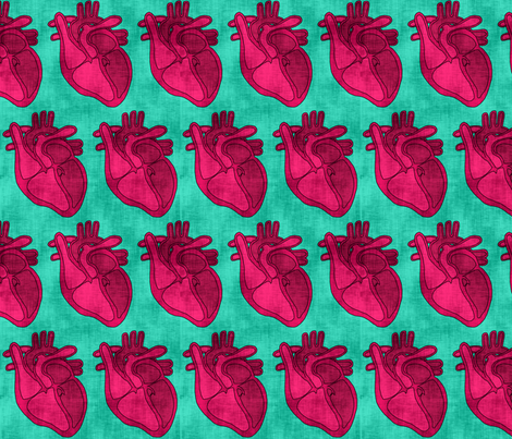 These Open Hearts fabric by pond_ripple on Spoonflower - custom fabric