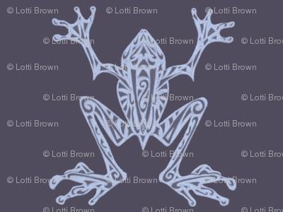 Fabulous Frogs - Midnight Blue