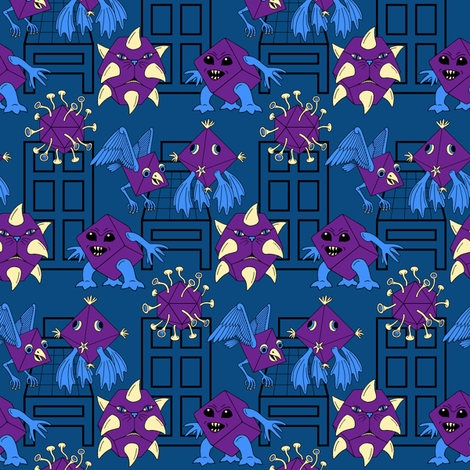 02891379 : bedtime monsters fabric by sef on Spoonflower - custom fabric