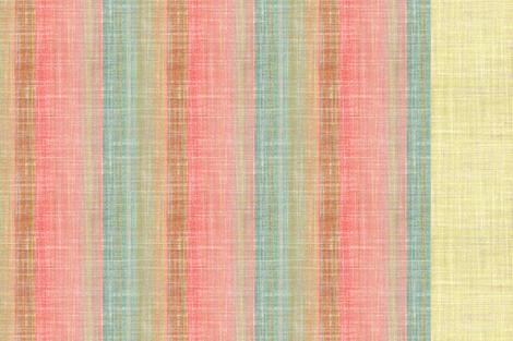 Linen Three in One Sandstone, Turquoise and Ivory fabric by joanmclemore on Spoonflower - custom fabric