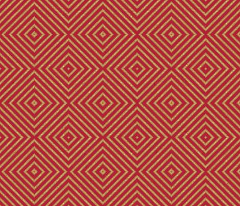 Geranium Red Diamonds © Gingezel™ fabric by gingezel on Spoonflower - custom fabric