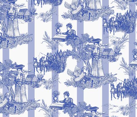 Selma Lagerlöf Toile fabric by fossan on Spoonflower - custom fabric