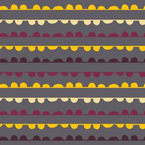Scallop Stripe on Gray