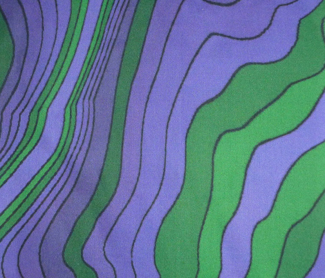 flowing wave - purple green