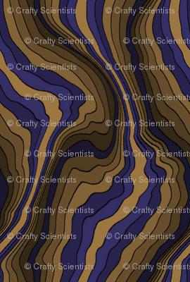 flowing wave - purple brown