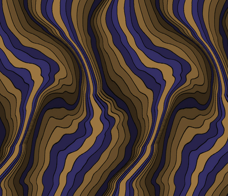flowing wave - purple brown fabric by craftyscientists on Spoonflower - custom fabric