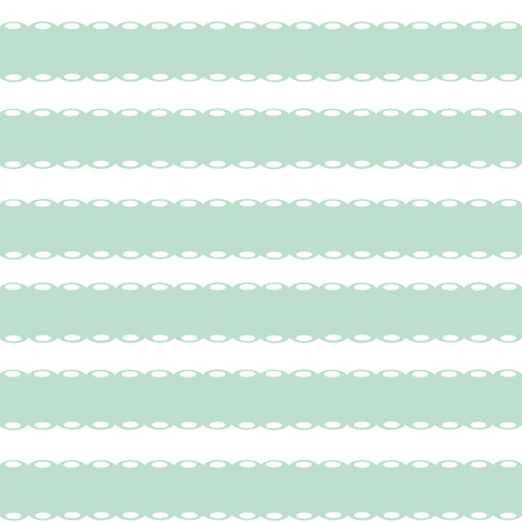 Mint Lace Stripes fabric by ajoyfulriot on Spoonflower - custom fabric