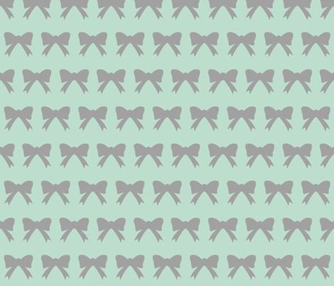 mint bow fabric by ajoyfulriot on Spoonflower - custom fabric