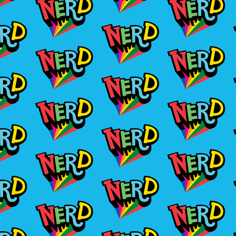 Nerd Spotlight fabric by andibird on Spoonflower - custom fabric