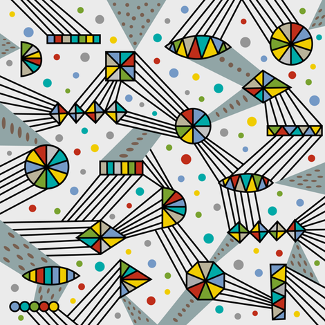 Intergalactic grey fabric by andibird on Spoonflower - custom fabric